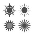 Sun icons set gray isolated white vector image vector image