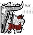 Taurus tattoo vector image vector image