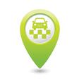 taxi symbol map pointer green vector image vector image