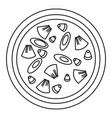 vegan pizza icon outline style vector image vector image