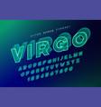 virgo futuristic decorative font design alphabet vector image vector image