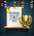 winners quotes reslistic vector image vector image