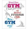 Womens Fitness GYM - stock vector image