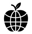world apple icon simple black style vector image vector image