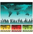 world map illustration vector image vector image