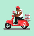 afro american delivery boy vector image