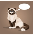 Cat with a cloud of thoughts vector image