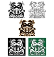 Celtic mythical animals traditional ornament vector image