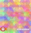 Abstract Colorful Hexagon Background vector image