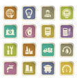 alternative energy icons set vector image vector image