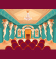 audience hall with atlas columns armchairs vector image vector image