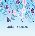 autumn background with drops vector image vector image