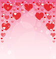 Background of hearts for postcards vector image vector image