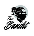 bandit head mascot logo vector image