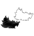 bandung city republic indonesia java island vector image vector image