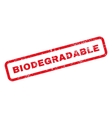 Biodegradable Text Rubber Stamp vector image vector image