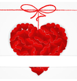 Card template with big red heart vector image vector image