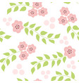 cherry blossom flower pattern seamless pattern vector image