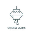 chinese lamps line icon chinese lamps vector image