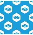 Cloud exchange hexagon pattern vector image vector image