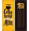 coffe house menu vector image vector image