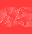 coral color premium background polygonal pattern vector image