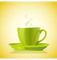 cup green tea vector image vector image