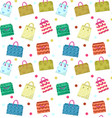 cute shopping bag seamless pattern colorful vector image
