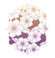 decorative frame with floral design vector image