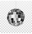disco or mirror ball icon symbol nightlife retro vector image vector image