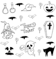 Doodle of Halloween element vector image vector image