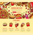 fast food menu poster fastfood restaurant vector image vector image