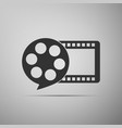 film reel and play video movie film icon isolated vector image vector image