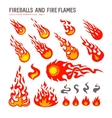 fireballs and flame vector image vector image