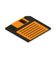 floppy disk icon in 3d isometric vector image