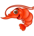Funny shrimp cartoon vector image vector image