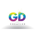 gd g d colorful letter origami triangles design vector image vector image