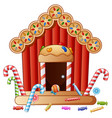 gingerbread candy house vector image