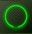 green neon round frame template on transparent vector image vector image