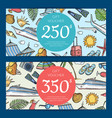 hand drawn summer travel elements discount vector image vector image