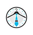 hanger and tie logo vector image