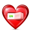 Heart and Electric Switch vector image vector image