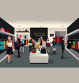 inside modern clothing store vector image