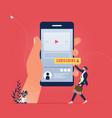 internet marketing and social media marketing vector image