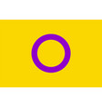intersex flag vector image vector image