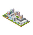 isometric urban architecture vector image vector image
