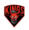 kings of the football red devil background vector image