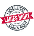 ladies night round grunge ribbon stamp vector image vector image
