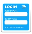Login icon vector image