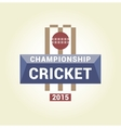 logo template championship cricket vector image